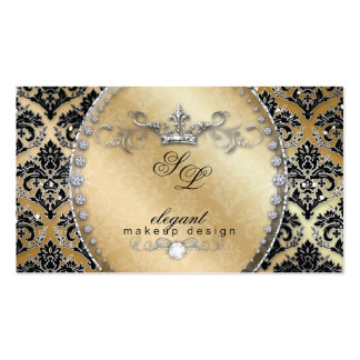 Fashion Jewelry Makeup Artist Damask Crown Cool Pack Of Standard Business Cards