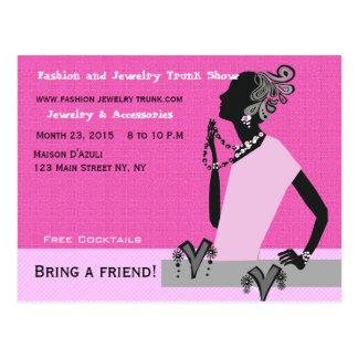 Fashion Jewelry Trunk Show Custom Woman Model Postcard