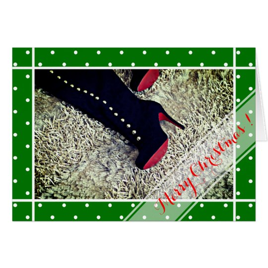 Fashion lady shoes funny Christmas Card