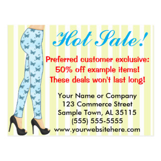 Fashion Leggings Sales Announcement Postcard