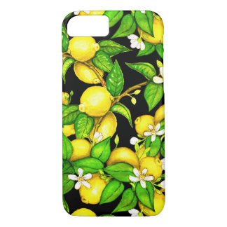 Fashion Lemon Print iPhone Case