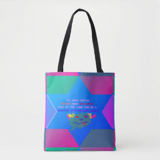 Fashion life tote bag