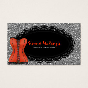 Lingerie business cards business card printing zazzle uk fashion lingerie business card reheart Images
