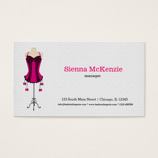 Fashion Lingerie (pink) Business Card