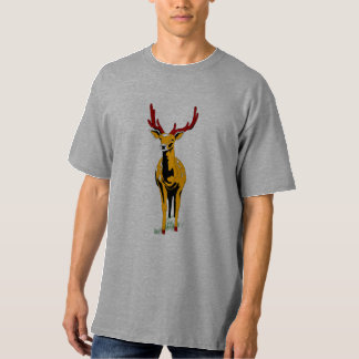 Fashion Mens Apparel Clothing Deer Antlers Tshirt