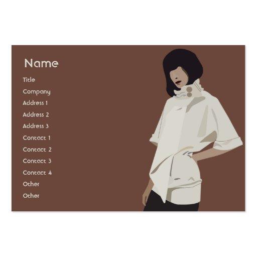 Fashion Merchandiser - Chubby Business Card Template