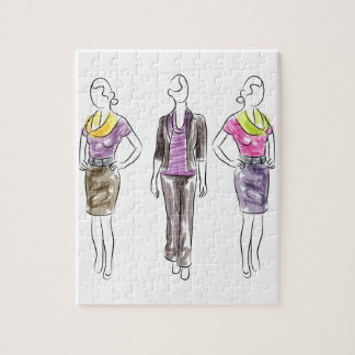 Fashion Model Sketches Puzzles