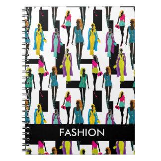 Fashion modern stylish trendy illustration pattern notebooks