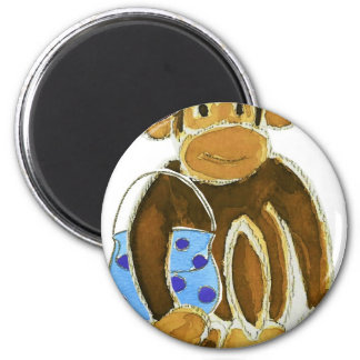 Fashion Monkey 6 Cm Round Magnet