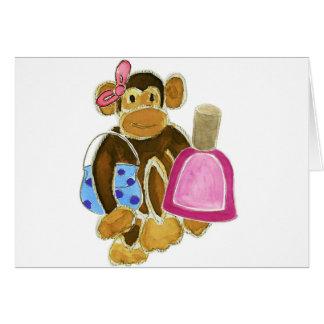 Fashion Monkey Nail Polish Greeting Card