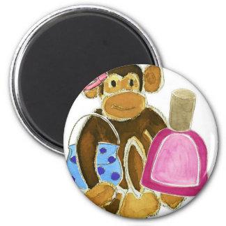 Fashion Monkey Nail Polish Fridge Magnet