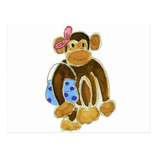 Fashion Monkey Postcard