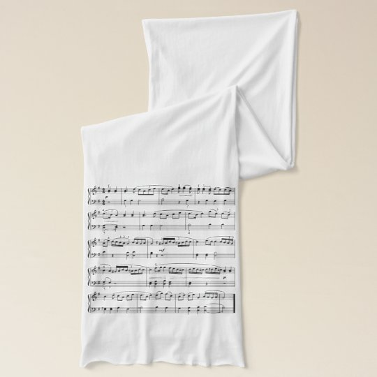 fashion musical score scarf