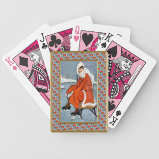 Fashion on the ski slopes bicycle playing cards