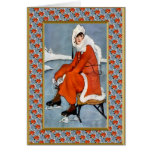 Fashion on the slopes greeting cards