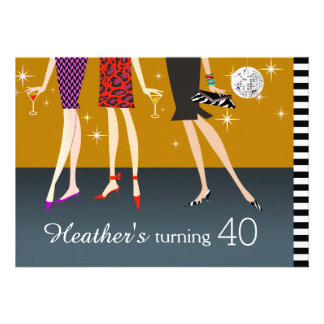 Fashion Party Girls 40th Birthday Announcement