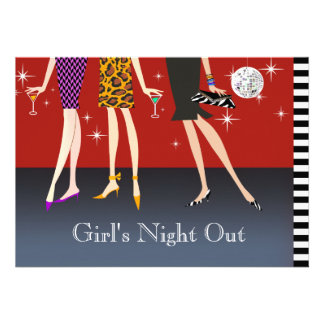 Fashion Party Girls Night Out Invite