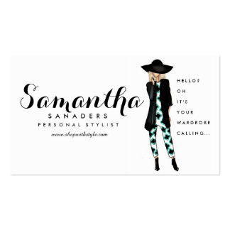 Fashion / Personal Stylist Girl Illustration Card Pack Of Standard Business Cards