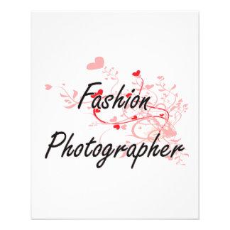 Fashion Photographer Artistic Job Design with Hear 11.5 Cm X 14 Cm Flyer