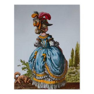 Fashion Plate 18th Century ~  Invitations