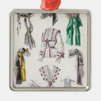Fashion plate christmas ornament