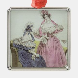 Fashion plate, 'Le Follet Courrier Salons Christmas Ornament