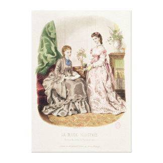 Fashion plate showing ballgowns canvas print