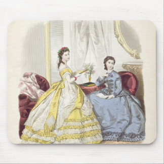 Fashion plate showing ballgowns mouse pad