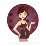 fashion pregnant postcard