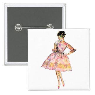 Fashion Print Button