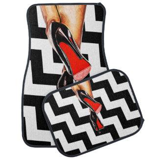Fashion Red Bottom Shoes Heels Stilletos Pumps Car Mat