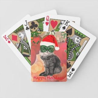 Fashion santa Claus cat Card Decks