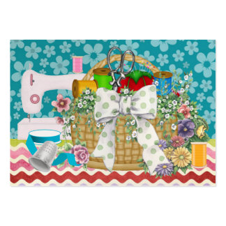 Fashion Seamstress Sewing Basket - SRF Business Card Templates