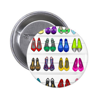 Fashion shoes 6 cm round badge