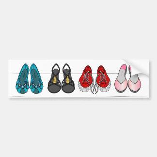 fashion shoes bumper sticker