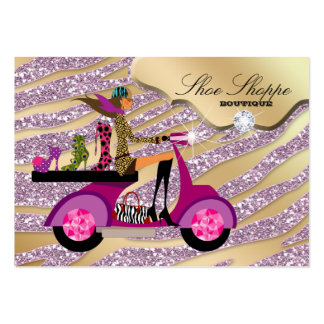 Fashion Shoes Jewelry Zebra Pink Jewel Glitter 8 Business Cards
