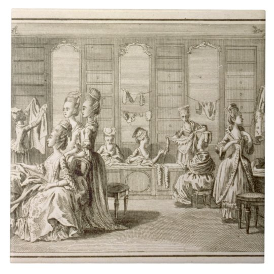 Fashion shop, from the 'Encyclopaedia' by Denis Tile