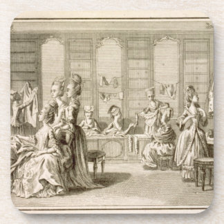 Fashion shop, from the 'Encyclopedia' by Denis Did Coaster