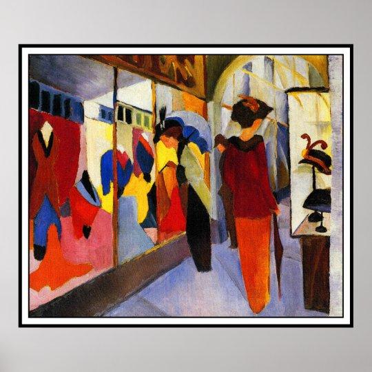Fashion Shop (Modegeschaft) by August Macke Poster