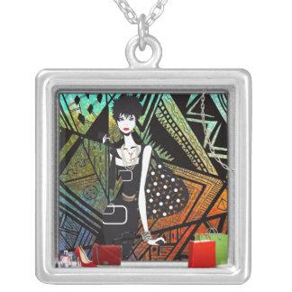 fashion shopping girl necklace