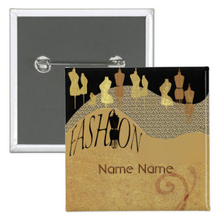 Fashion Show & Fashion Designer Name Tag 15 Cm Square Badge