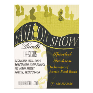 Fashion Show  Style Designer Invitation 21.5 Cm X 28 Cm Flyer