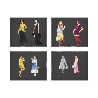 Fashion Show Wrapped Canvas Stretched Canvas Prints