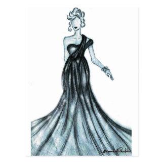 Fashion sketch postcard