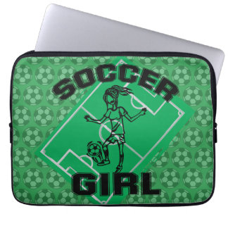 Fashion Soccer girl football design Laptop Computer Sleeve