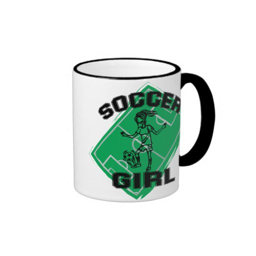 Fashion Soccer girl football design Mugs