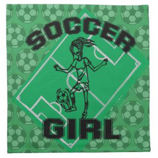 Fashion Soccer girl football design Napkins