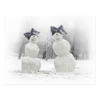 Fashion Statement made by Snowmen Postcard