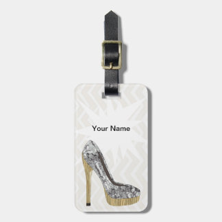 Fashion stiletto design. Customize Bag Tag