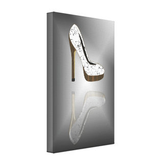 Fashion stiletto reflection stretched canvas prints